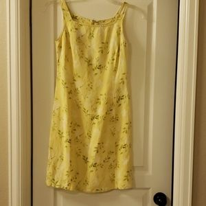J crew linen sleeveless summer dress